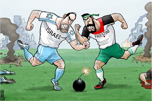 Israel-Palestine Conflict - Cartoon