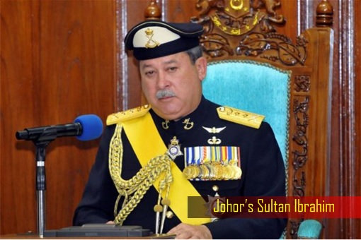 Johor Sultan Ibrahim - Sitting on Chair