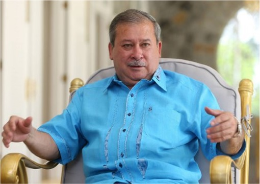 Johor Sultan Ibrahim - Wearing Blue Shirt