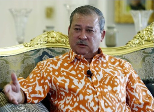Johor Sultan Ibrahim - Wearing Brown Spots Shirt