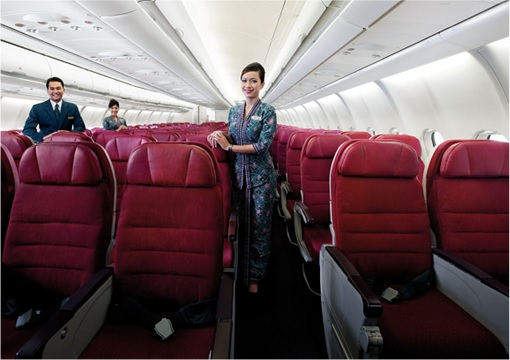 Malaysia Airlines Airbus A330-323X - Inside Plane