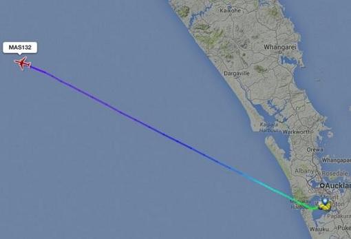 Malaysia Airlines MH132 Flight From Auckland International Airport - Flightradar24