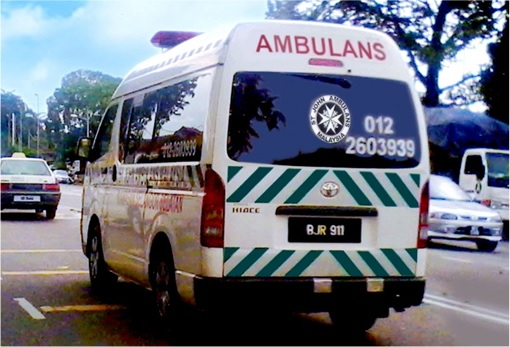 Malaysian Ambulance on the Road