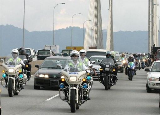 Malaysian Police Outrider - VIP Convoy