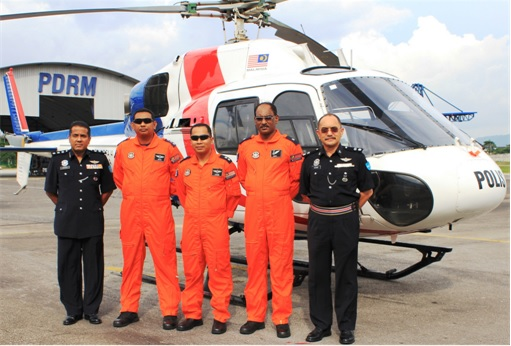 Malaysian Police PDRM Helicopter