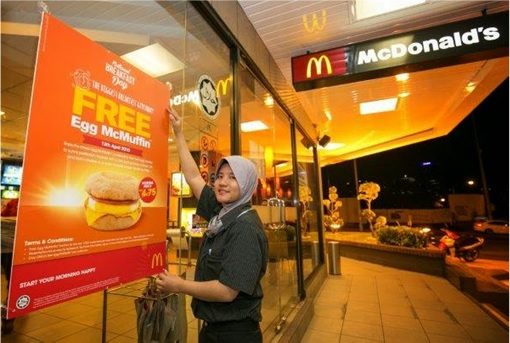 McDonald's Malaysia - Worker Free McMuffin Poster