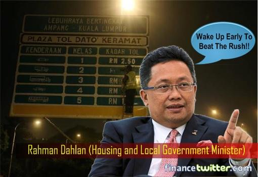 Minister Rahman Dahlan - Wake Up Early To Beat The Rush