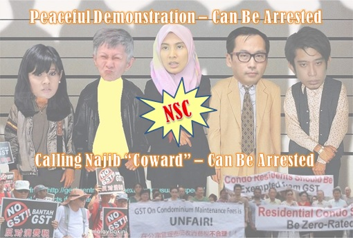 NSC National Security Council - Authoritarian Law to Arrest Demonstrators and Calling Najib Coward