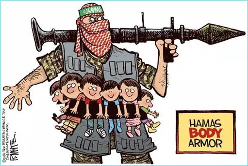 Palestine Hamas uses Children as Body Armour - Cartoon