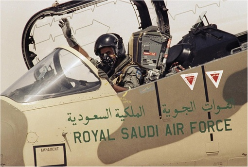 Pilot in Royal Saudi Air Force Jet