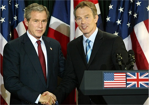 President George W Bush and Prime Minister Tony Blair