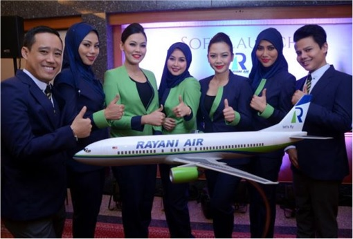 Rayani Air Crew and Staffs with Plane Model