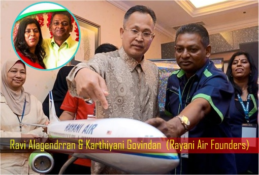 Rayani Air Founders - Ravi Alagendrran and Karthiyani Govindan