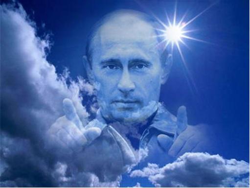Russian Vladimir Putin - God in the Blue Sky