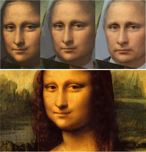 Russian Vladimir Putin - Look Like Mona Lisa
