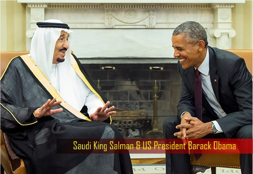 Saudi King Salman and US President Barack Obama