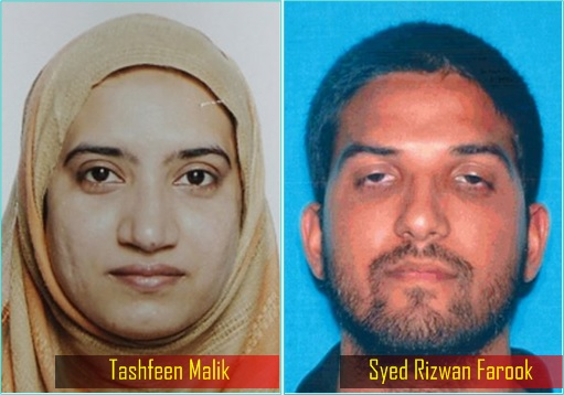Tashfeen Malik and Syed Rizwan Farook - Separate Photo