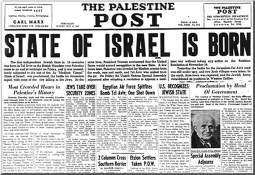 The Palestine Post - State of Isreal is Born