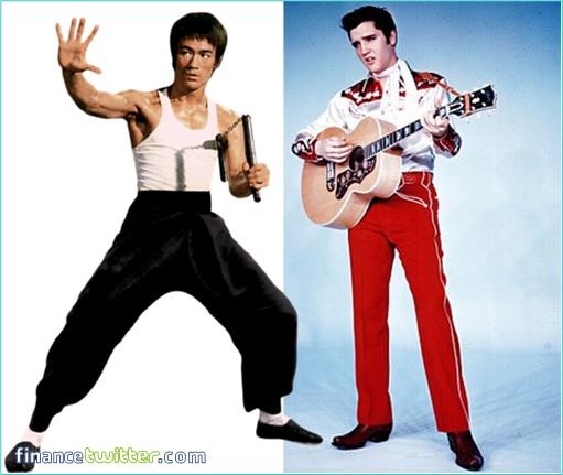 1973 - Elvis Presley and Bruce Lee