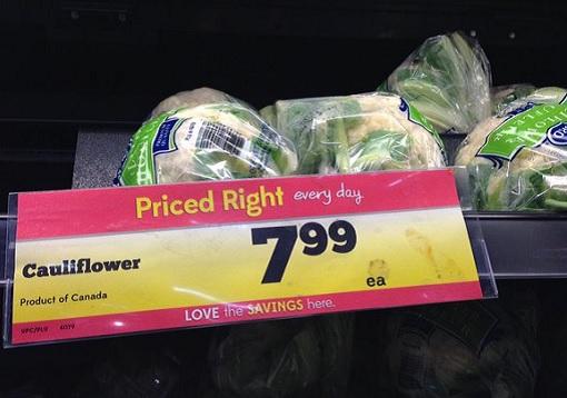 Canada Cauliflower - CAD 7.99 Each
