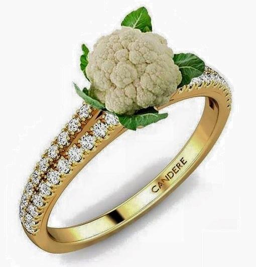 Cauliflower Diamond Ring