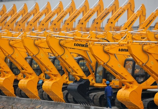 China Economy - Excavators at Lonking Factory