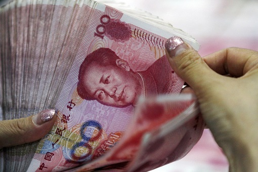China Yuan Renminbi Currency - Counting