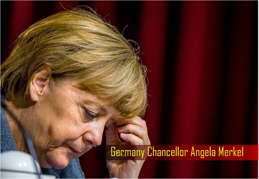 Germany Chancellor Angela Merkel - Looking Down Sad
