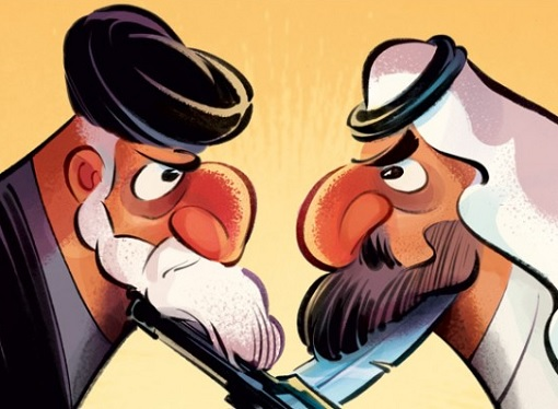 Iran-Saudi Conflict - Cartoon At Each Others Throat
