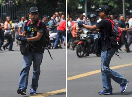 Jakarta Terrorist Attack - Gunman Targetting Civilians
