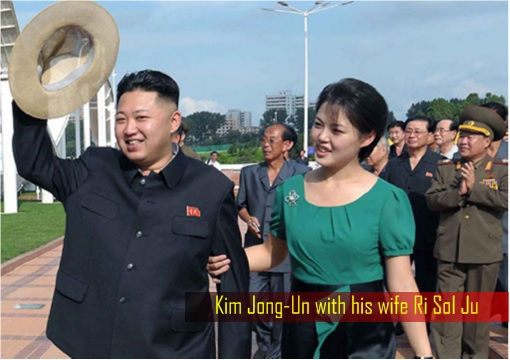 Kim Jong-Un with his wife Ri Sol Ju