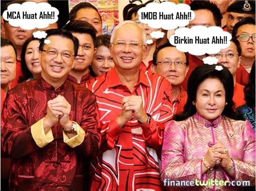 Liow Tiong Lai - Najib Razak - Rosmah Mansor - Chinese New Year Huat Ahh Greetings