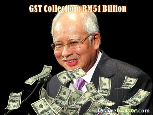 Najib Razak - Laughing - GST Collection RM51 Billion