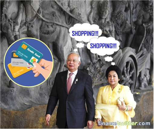 Najib Razak and Rosmah Mansor Shopping in Europe with Credit Cards