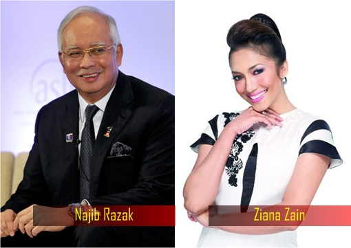 Najib Razak and Ziana Zain