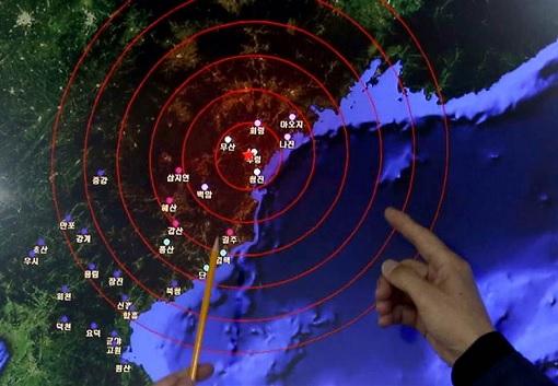 North Korea Test Detonate Hydrogen Bomb - Earthquake Map