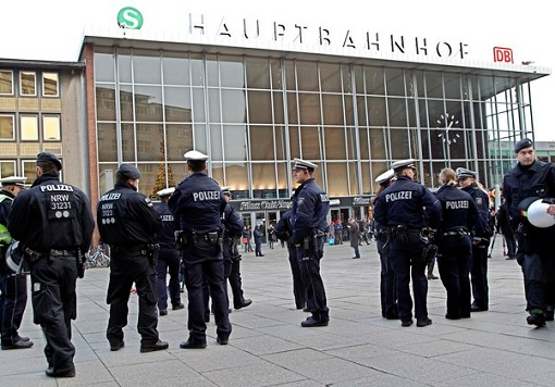 Police Guarding Cologne Train Station After Mob Attacks