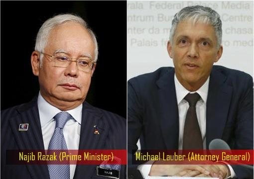Prime Minister Najib Razak - Attorney General Michael Lauber