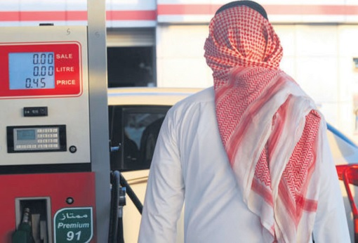 Saudi Arabian pumping gasoline before price increase