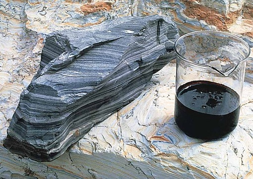 Shale Oil Industry - fine grained sedimentary rock