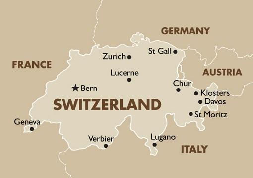 Switzerland Map and Borders