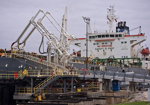 Theo T Oil Tanker Loading Light Crude Oil For The First Time in 40-Years - United States