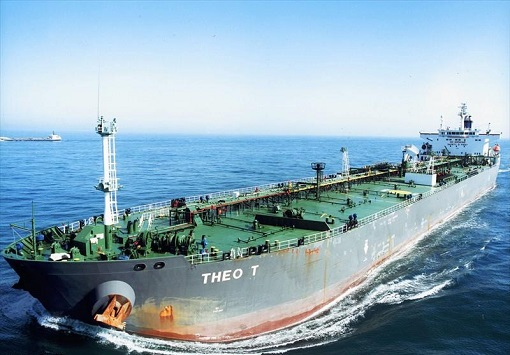 Theo T Oil Tanker Sailing With US Export Oil To Vitol Group