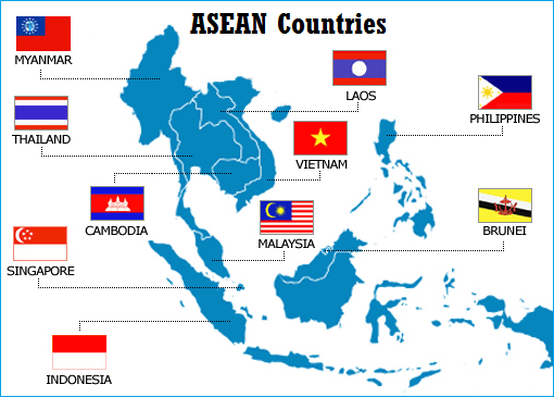 ASEAN Countries - Map