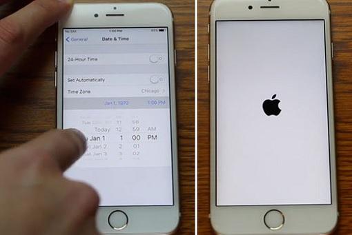Apple iOS iPhone iPad Bug Prank - Setting Date To 1-1-1970 - Infinite Loop with Logo