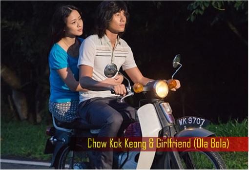 Chow Kok Keong and Girlfriend Riding Motorcycle - Ola Bola