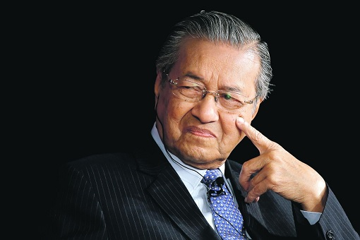Mahathir Mohamad Grinning