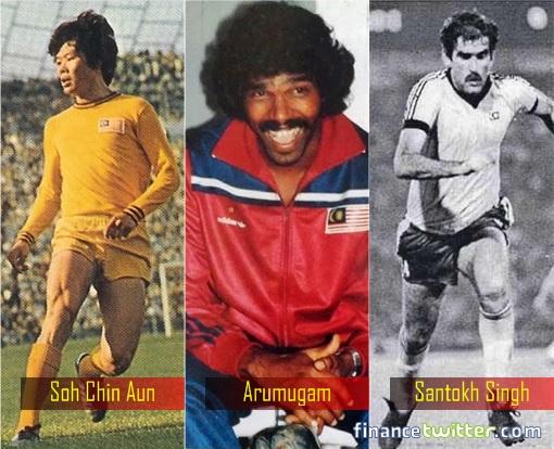 Malaysian Football - Soh Chin Aun - Arumugam - Santokh Singh