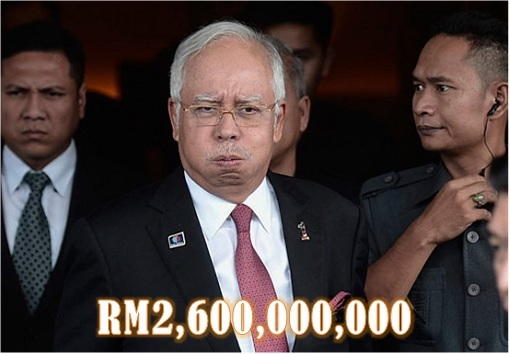 Najib Razak - Anxious - RM2,600,000,000