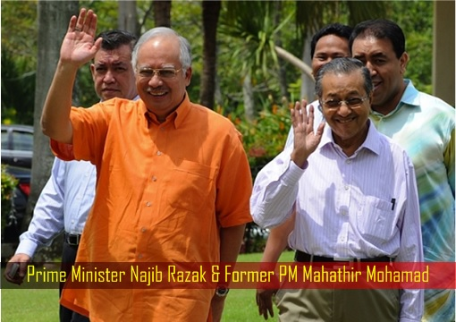 Prime Minister Najib Razak and Former PM Mahathir Mohamad - Happy Time in 2009